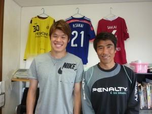 酒井宏樹選手(ドイツ・ブンデスリーガ&日本代表)がマイティーの事務所に来ました!